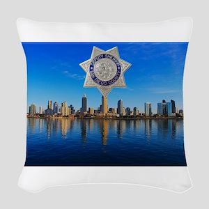 San Diego Sheriff Skyline Woven Throw Pillow