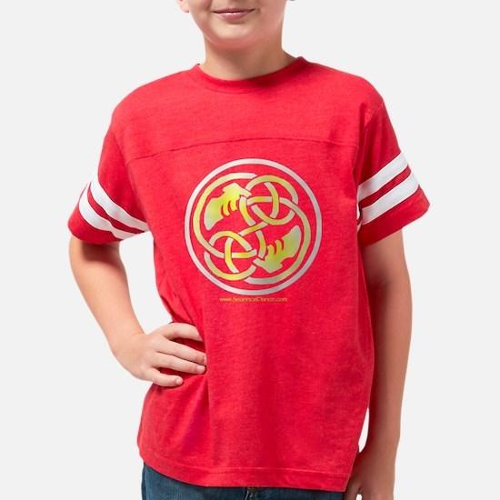 1010GldLogo_B Youth Football Shirt