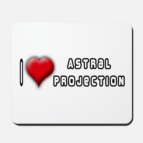I Love (Heart) Astral Project Mousepad