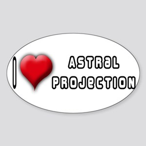 I Love (Heart) Astral Project Oval Sticker
