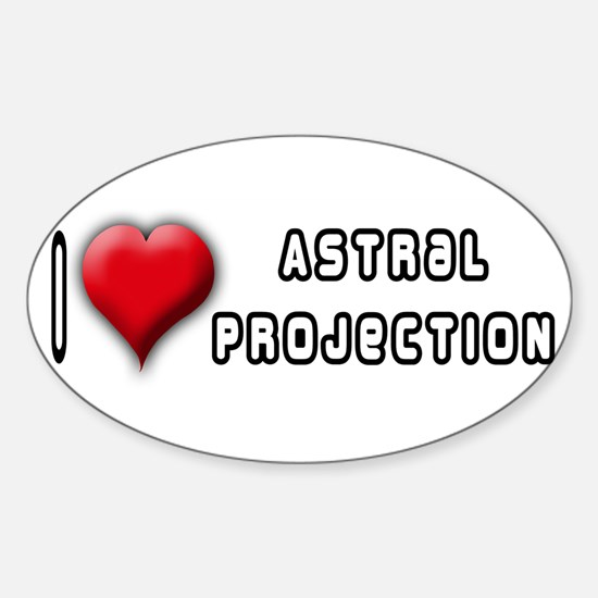I Love (Heart) Astral Project Oval Decal