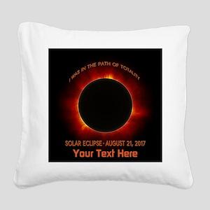 Solar Eclipse Square Canvas Pillow