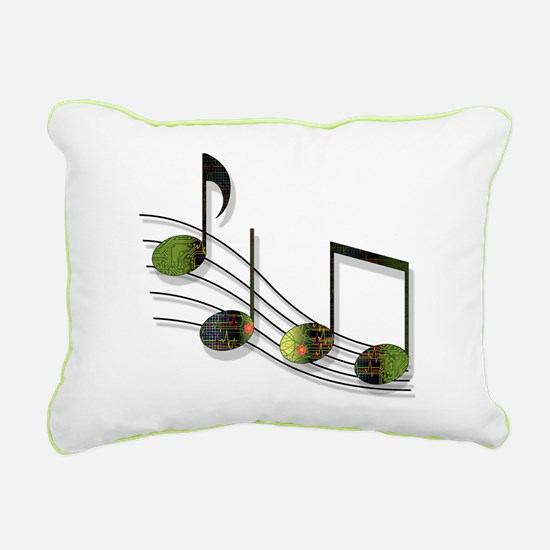 Dubstep Notes Rectangular Canvas Pillow