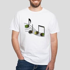Dubstep Notes White T-Shirt