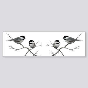 chickadee birds Bumper Sticker