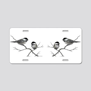 chickadee birds Aluminum License Plate