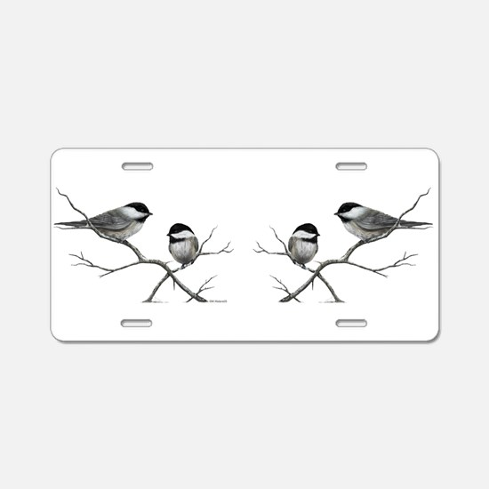 chickadee birds Aluminum License Plate