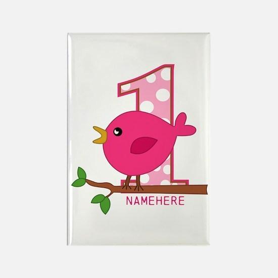 Birdie First Birthday Rectangle Magnet