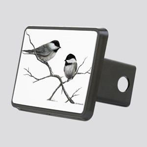 chickadee song bird Rectangular Hitch Cover