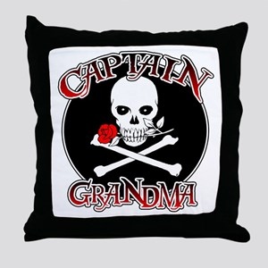 Captain Grandma Throw Pillow