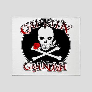 Captain Grandma Throw Blanket