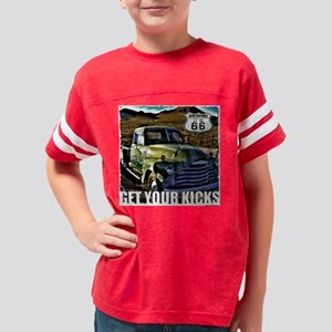 Old Green Truck Youth Football Shirt