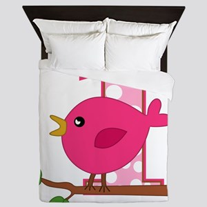 First Birthday Birdie Queen Duvet