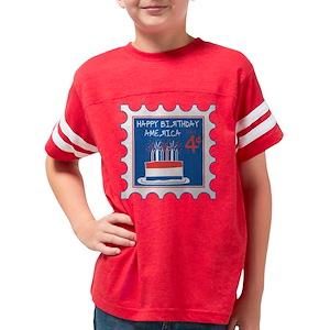 Happy 4th Birthday Basketball Kids Football T Shirts