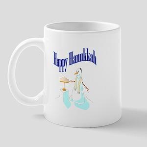 happy hanukkah snowman Mug