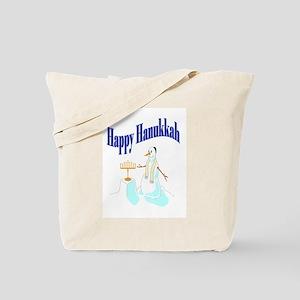 happy hanukkah snowman Tote Bag