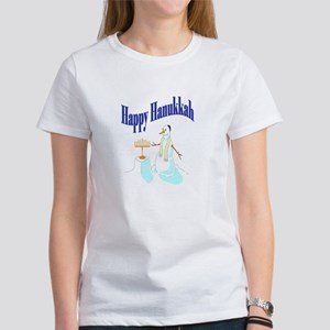 happy hanukkah snowman Women's T-Shirt