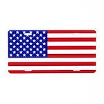 American Flag Aluminum License Plate