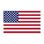 Large American Flag Wall Peel