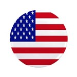 American Flag 3.5 Button
