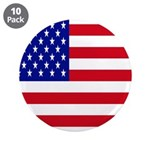 American Flag 3.5 Button (10 Pack)