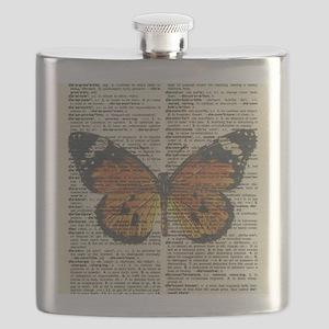 Monarch Butterfly Flask