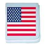 American Flag Baby Blanket