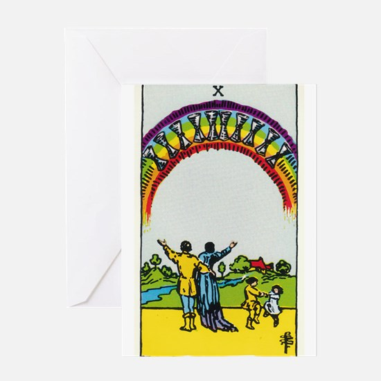 TEN OF CUPS Tarot Card Greeting Card
