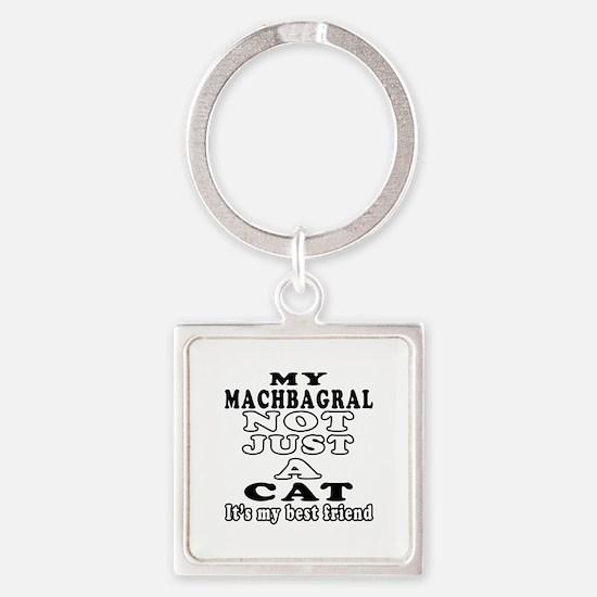Machbagral Cat Designs Square Keychain