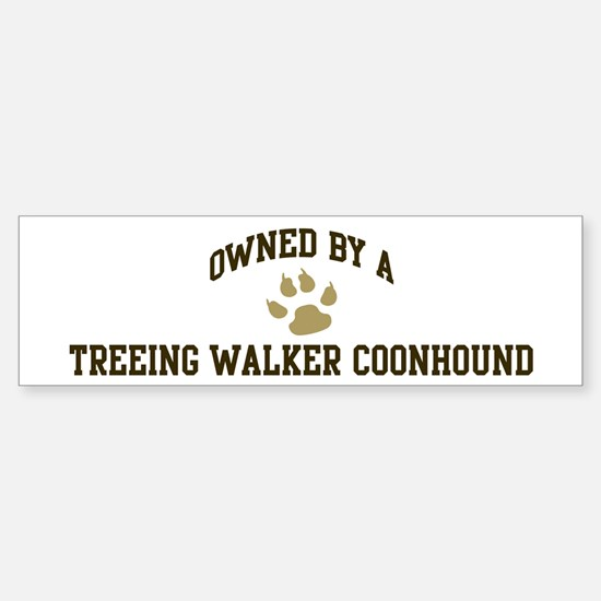 Treeing Walker Coonhound: Own Bumper Bumper Bumper Sticker