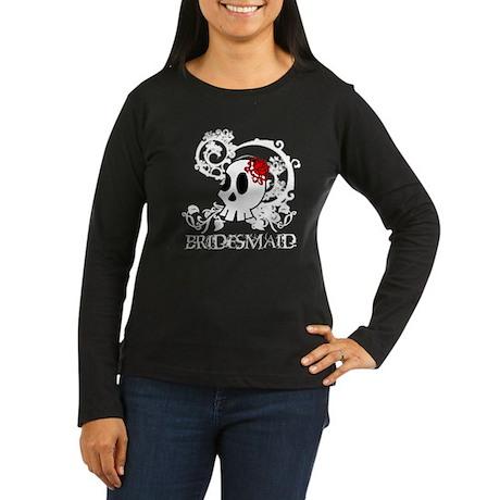Skull Bridesmaid Women's Long Sleeve Dark T-Shirt