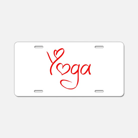 yoga-jel-red Aluminum License Plate