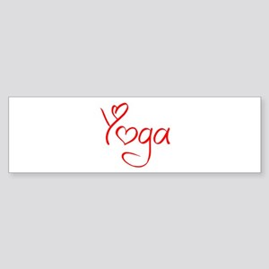 yoga-jel-red Bumper Sticker