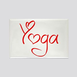 yoga-jel-red Rectangle Magnet