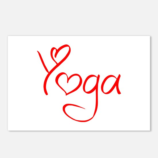 yoga-jel-red Postcards (Package of 8)