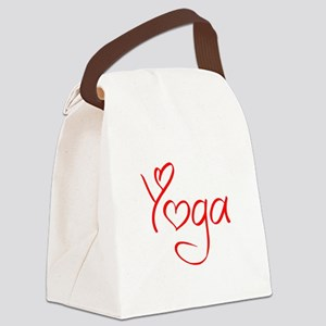 yoga-jel-red Canvas Lunch Bag