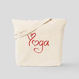 yoga-jel-red Tote Bag