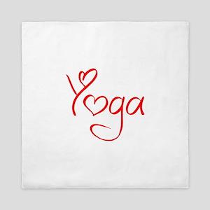 yoga-jel-red Queen Duvet