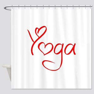 yoga-jel-red Shower Curtain