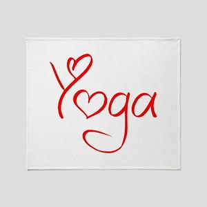 yoga-jel-red Throw Blanket
