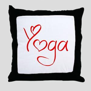 yoga-jel-red Throw Pillow