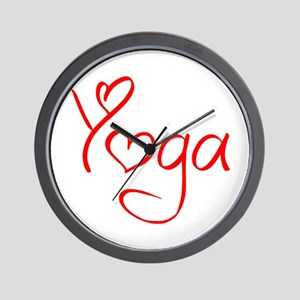 yoga-jel-red Wall Clock