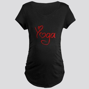 yoga-jel-red Maternity T-Shirt