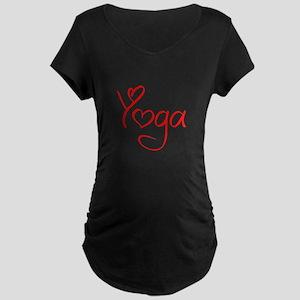 yoga-jel-red Maternity T-Shirt