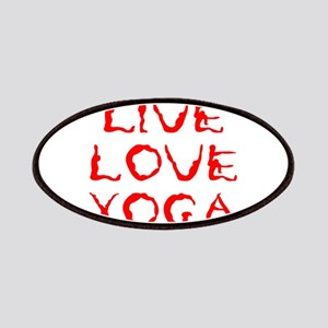 LIVE-LOVE-YOGA-yoga-red Patches