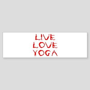 LIVE-LOVE-YOGA-yoga-red Bumper Sticker