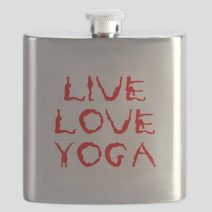 LIVE-LOVE-YOGA-yoga-red Flask