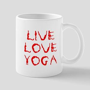 LIVE-LOVE-YOGA-yoga-red Mug