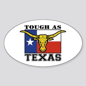 Tough as Texas Longhorn Oval Sticker