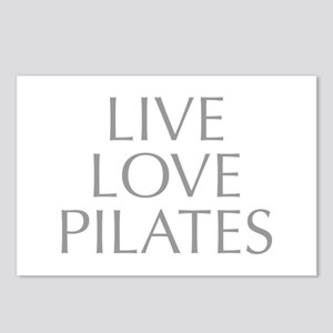 LIVE-LOVE-pilates-OPT-GRAY Postcards (Package of 8